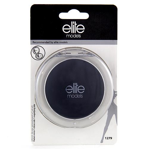 Kosmetické zrcátko Elite Models kulaté, 8cm, černé