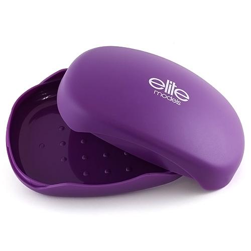 Pouzdro na mýdlo Elite Models plastové, fialové