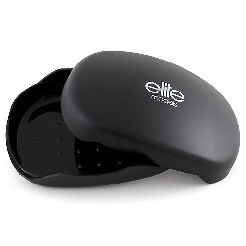 Pouzdro na mýdlo Elite Models plastové, černé