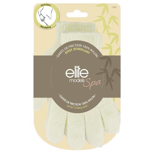 Rukavice 2ks masážní Elite Models 18cm, nylonové vlákno