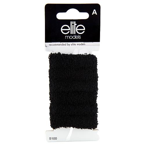 Gumičky do vlasů 6ks Elite Models 6ks, černé, průměr 5cm
