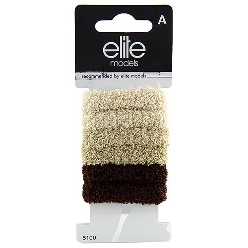 Gumičky do vlasů 6ks Elite Models 6ks, hnědé, průměr 5cm
