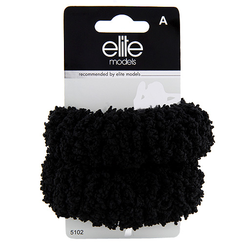 Gumičky do vlasů 2ks Elite Models 2ks, černé, průměr 10cm
