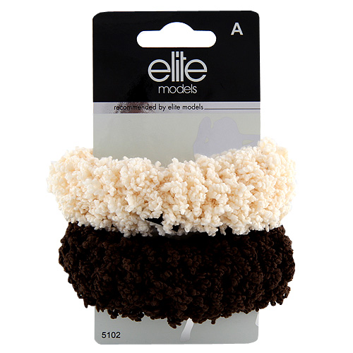 Gumičky do vlasů 2ks Elite Models 2ks, hnědo-béžová, průměr 10cm