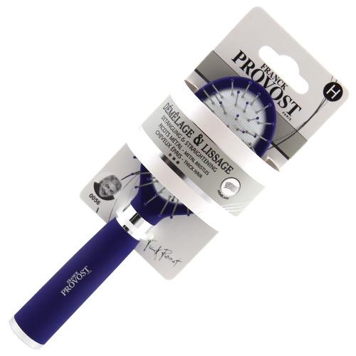 Kartáč rozčesávací mini Franck Provost kovový, modrý