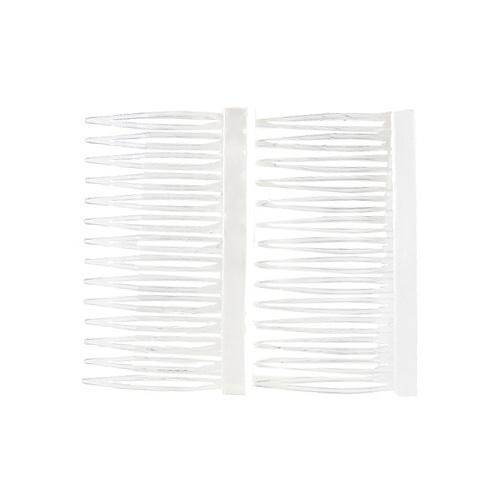 Hřebínky do vlasů 2ks Franck Provost 2ks, transparentní, šíře 7cm
