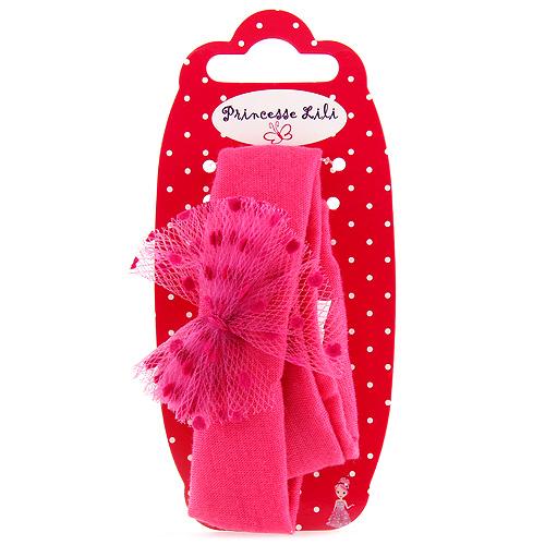 Čelenka látková Princesse Lili textilní, růžová