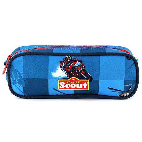 Školní penál Scout elipsovitý, motiv vrtulník, Basic