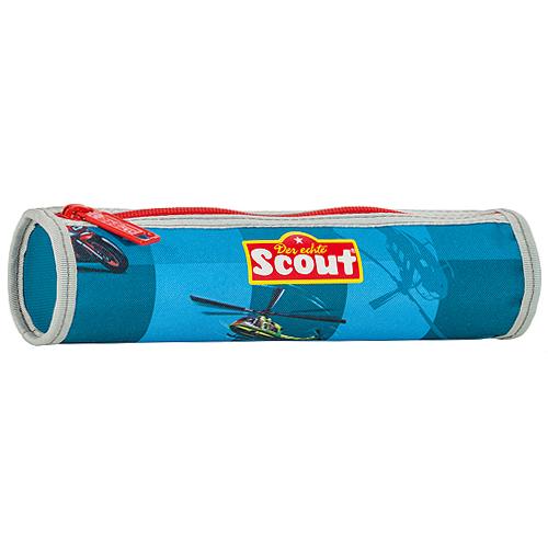 Školní penál Scout kulatý, motiv vrtulník, Basic