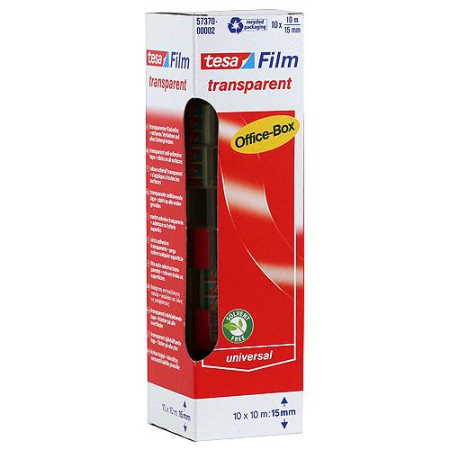 Lepicí pásky Tesa transparentní, 10ks, 15mm x 10m