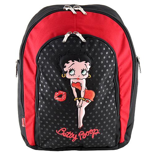 Školní batoh Betty Boop černo-červený