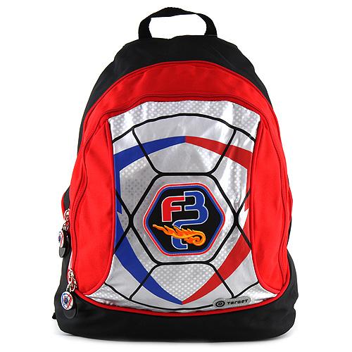 Target Dětský batoh Goal stříbrno-červený