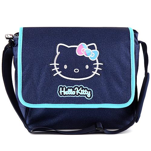 Taška přes rameno Hello Kitty motiv jeans