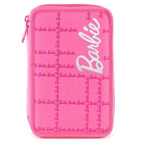 Barbie Školní penál s náplní dvoupatrový, růžový