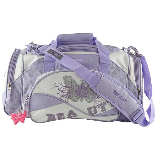 Cestovní taška Target motiv Beauty, fialovo-bílá