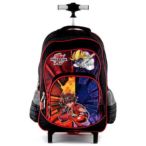 Školní batoh trolley Bakugan černo-červený