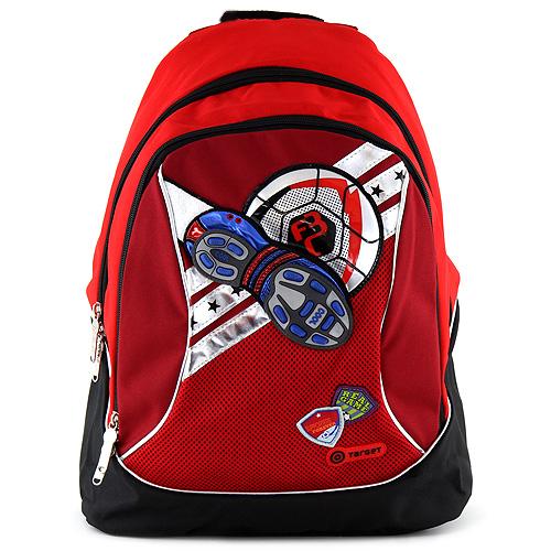 Dětský batoh Goal červený, motiv míče