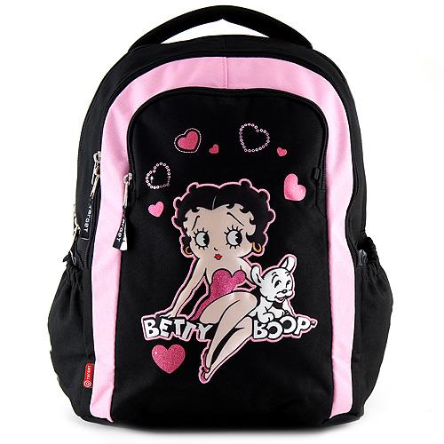 Školní batoh Betty Boop černo-růžový