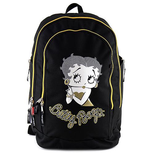 Školní batoh Betty Boop černo-zlatý