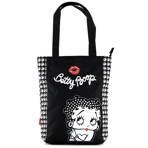 Nákupní taška Betty Boop černo-bílá