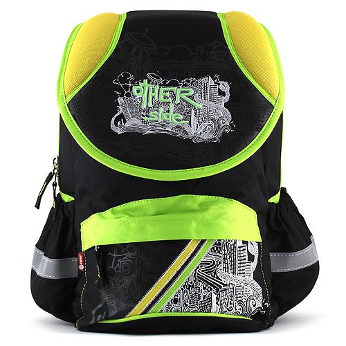 Školní batoh Target žluto-zeleno černý