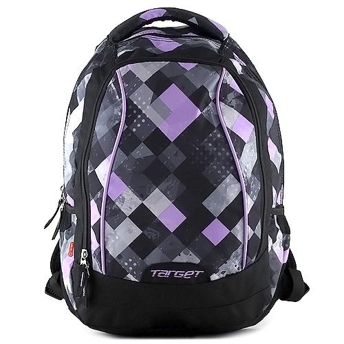 Studenstský batoh Target fialové kostky