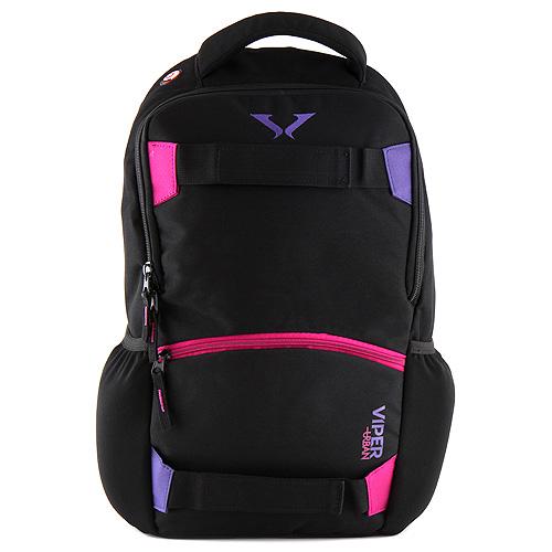 Sportovní batoh Target černo-fialový zip