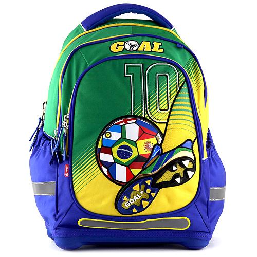 Školní batoh Goal modro-zelený Gool