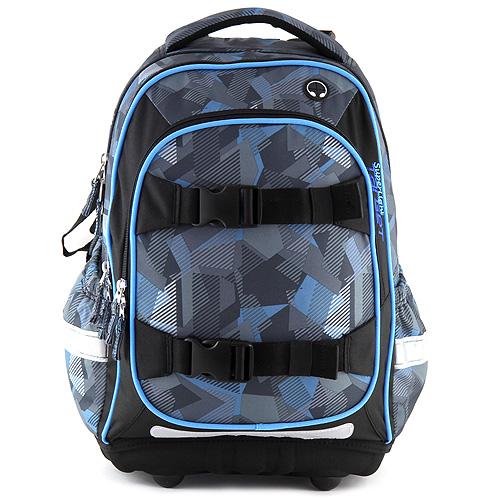 Školní batoh Target šedo-modré kostky