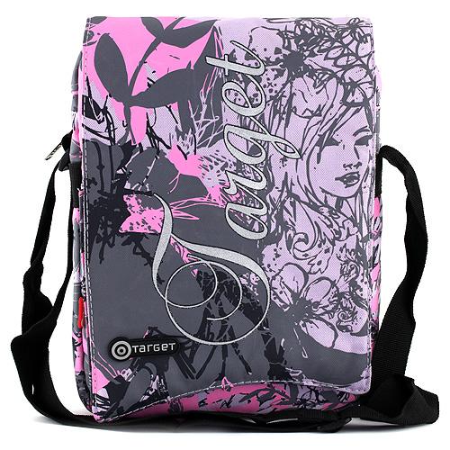 Taška na tablet Target růžovo-šedá