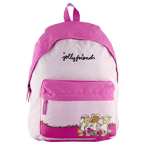 Dětský batoh Nici růžový s puntíky