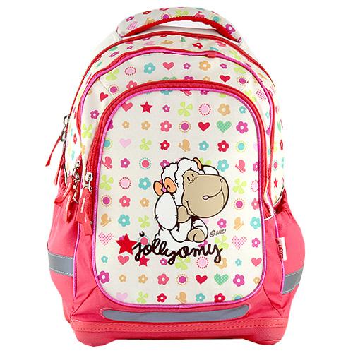 Školní batoh Nici žluto-růžový