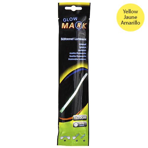 Svítící proužek Glow Mark 20x1cm, žlutý