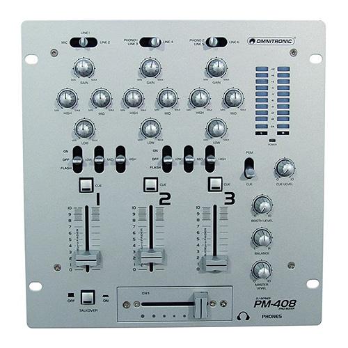 Mixážní pult Omnitronic Omnitronic PM-408, 3-kanálový mixážní pult