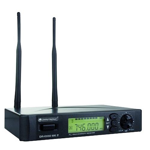 Bezdrátový přijímač Omnitronic Omnitronic DR-1000 MK2, bezdrátový přijímač UHF