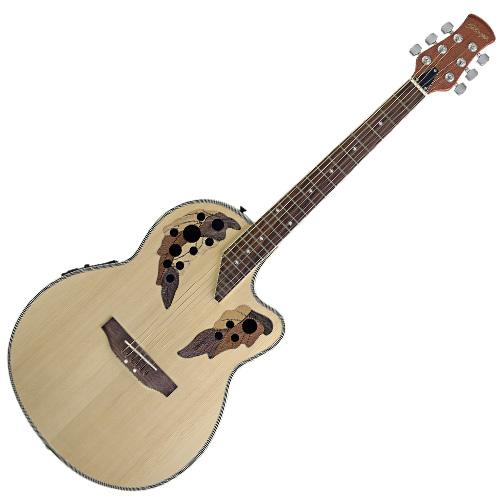 Elektro-akustická kytara Stagg typ Ovation
