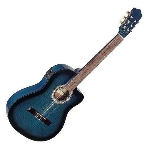 Elektro-akustická kytara Stagg typu 4/4, s výkrojem