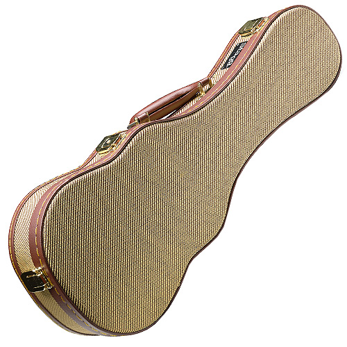 Kufr pro ukulele Stagg povrch zlatý tweed