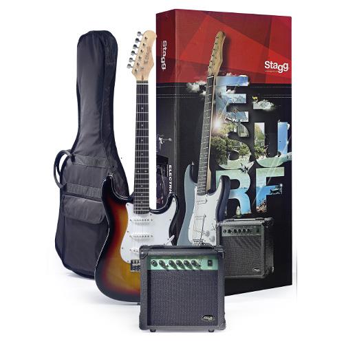 Kytarová sada Stagg elektrická kytara + kombo set