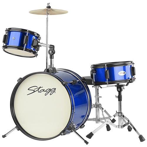 Dětská bicí sada Stagg Stagg TIM JR 3/16 BL MK II, dětská bicí sada, modrá