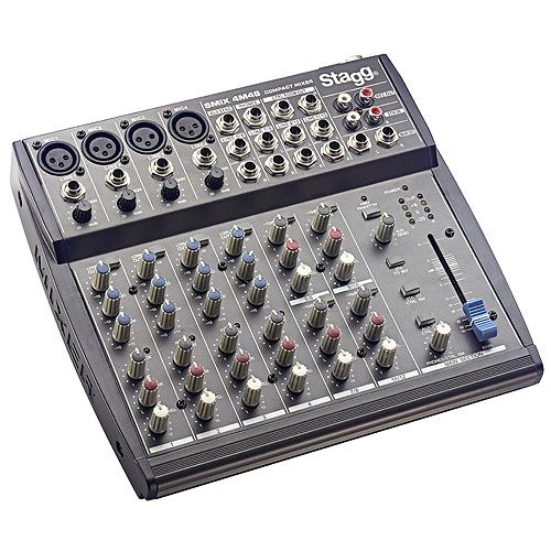 Mixážní pult Stagg 4x mono, 4x stereo vstupní kanály