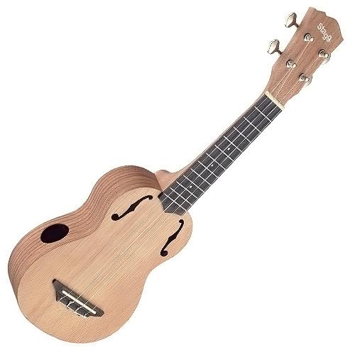 Sopránové ukulele Stagg barva přírodní lesklá