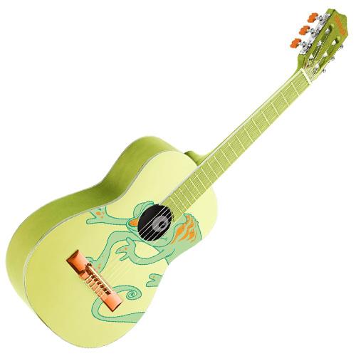 Klasická kytara Stagg Velikost 1/2, motiv chameleona
