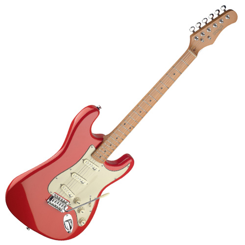Fotografie Elektrická kytara Stagg typu Strat