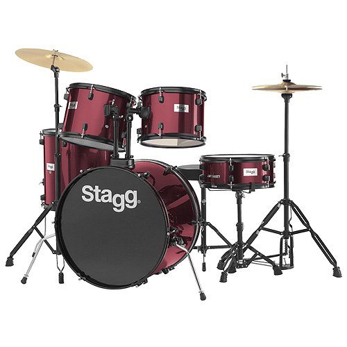 Bicí sada Stagg Stagg TIM122B WR, bicí sada, vínová