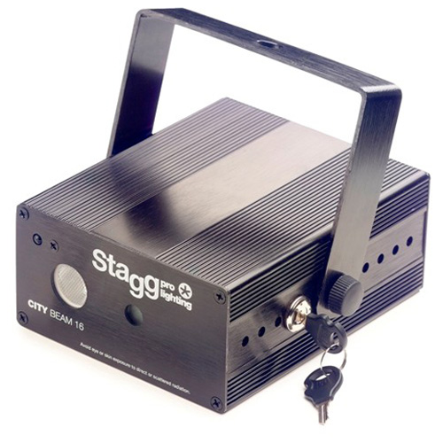 Laser Stagg Stagg Laser CITY 140mW Twinkle LED, černý