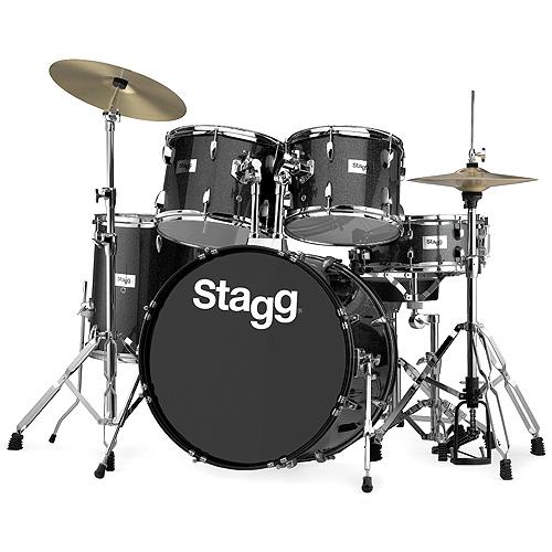 "Bicí sada Stagg 22"", černá perleť"