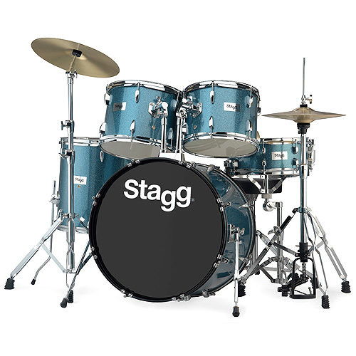 "Sada bicích Stagg 22"", modrá perleť"