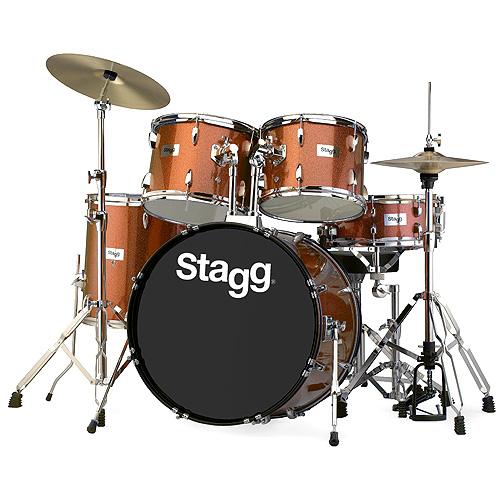 "Sada bicích Stagg 22"", hnědá perleť"