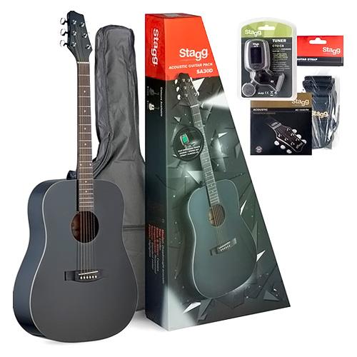 Kytarová sada Stagg Stagg SA30D-BK, kytarová sada